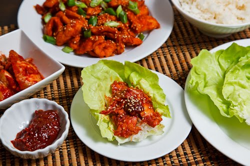 Dak Bulgogi (Korean BBQ Chicken) Lettuce Wraps