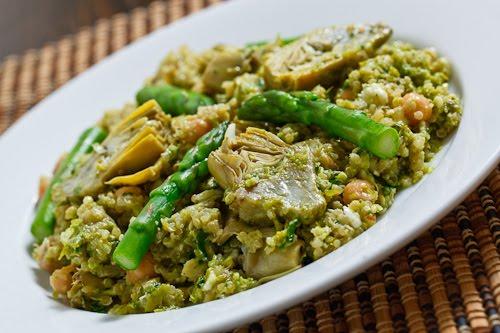 Asparagus and Baby Artichoke Quinoa Salad