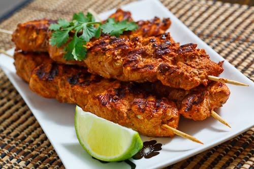 Grilled Tandoori Chicken Skewers
