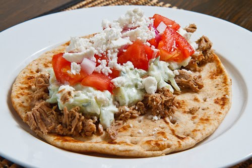 Greek Style Pulled Lamb Pitas