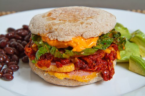 Peameal Bacon and Kimchi Breakfast Muffin