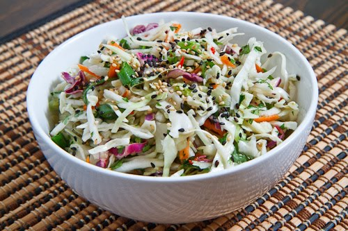 Sesame and Ginger Coleslaw (Mayoless)