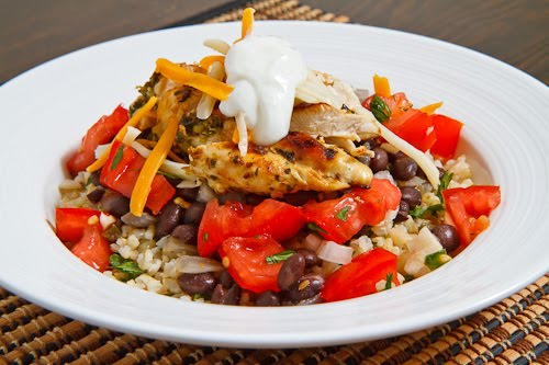 Tequila Lime Grilled Chicken Burrito Bowls