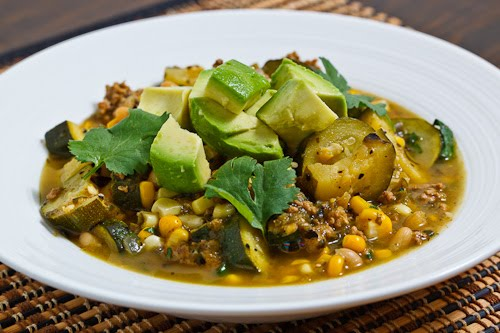 Turkey and Zucchini Green Chili