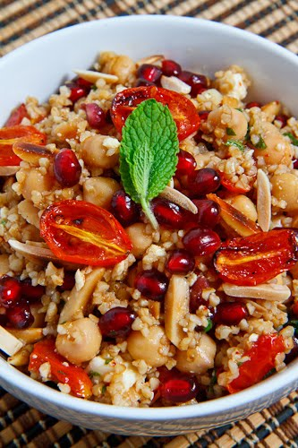 Pomegranate and Roasted Tomato Bulgur Salad