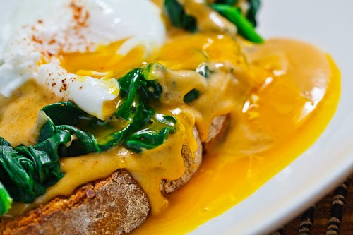 Buck Rarebit (Welsh Rarebit with Spinach and a Poached Egg)