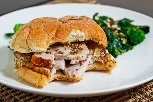 Porchetta Sandwich with Braised Rapini