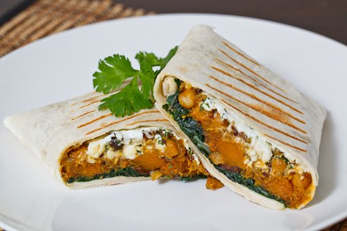 Moroccan Butternut Squash and Quinoa Tagine Burrito