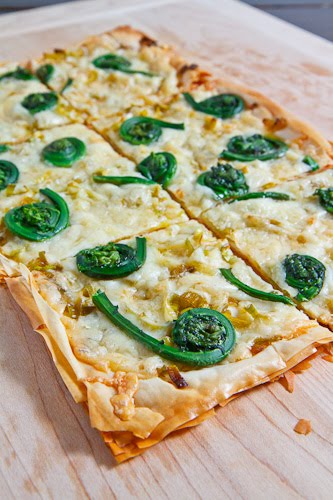 Fiddlehead Tart