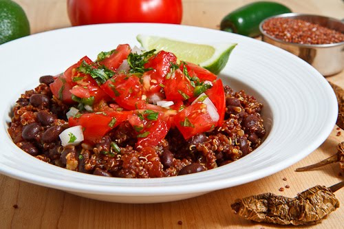 Mexican Quinoa and Beans with Pico de Gallo