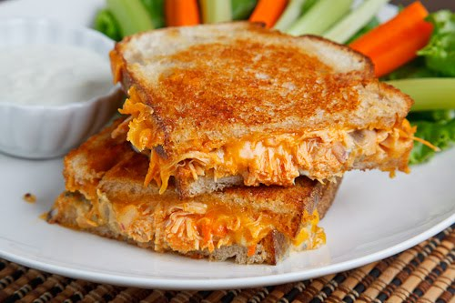 Buffalo Chicken Grilled Cheese Sandwich Closet Cooking