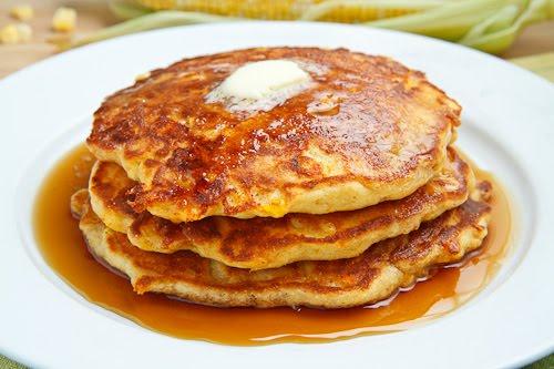 Fresh Corn Pancakes - Closet Cooking
