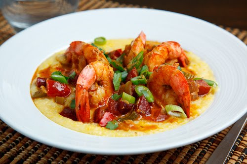 Shrimp and Andouille Grits