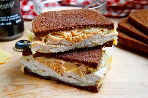 The Rachel Sandwich (aka Roast Turkey Reuben Sandwich) with Sauerkraut