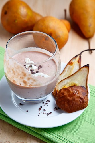 Caramelized Pear, Chocolate and Goat Cheese Smoothie