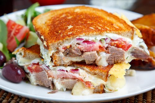 Gyro Grilled Cheese Sandwich (aka Gyro Melt)