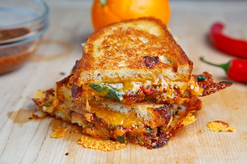 Sweet Chili Chicken Grilled Cheese Sandwich