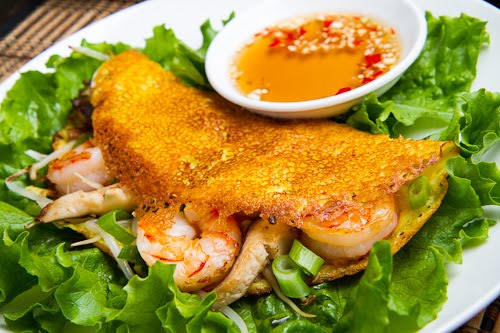 Bánh Xèo (Savoury Vietnamese Crepes Stuffed with Shrimp and Mushrooms)