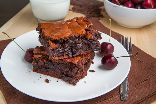 Roast Cherry Dark Chocolate Brownies