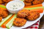 Buffalo Chicken Quinoa Fritters
