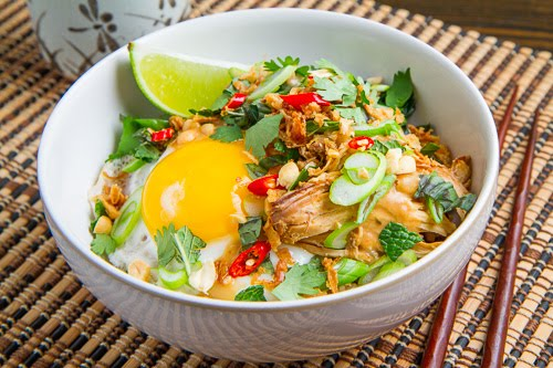 Spicy Peanut Chicken Rice Bowl