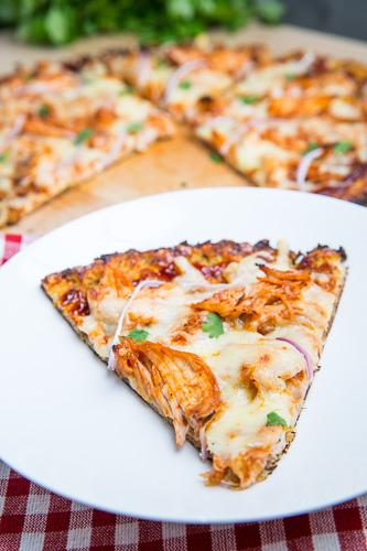 Cauliflower Pizza Crust (BBQ Chicken Pizza)