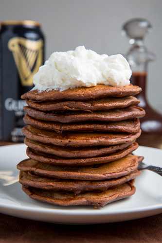 Bacon Guinness Chocolate Pancakes With A Frothy Whipped Cream Head And Guinness Chocolate Syrup Closet Cooking