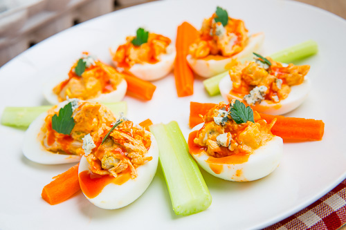 Buffalo Chicken Deviled Eggs