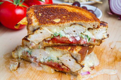 Chicken Gyro Grilled Cheese (aka The Gyro Melt)