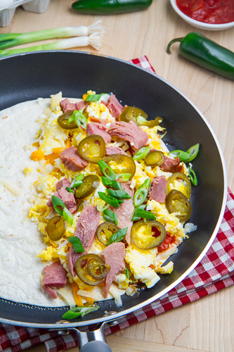 Ham and Egg Breakfast Quesadillas