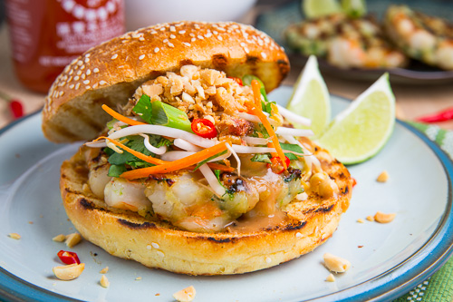 Pad Thai Shrimp Burgers