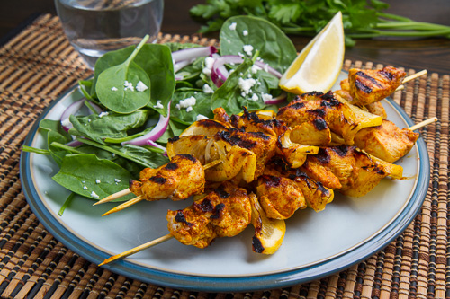 Moroccan Grilled Chicken Kabobs