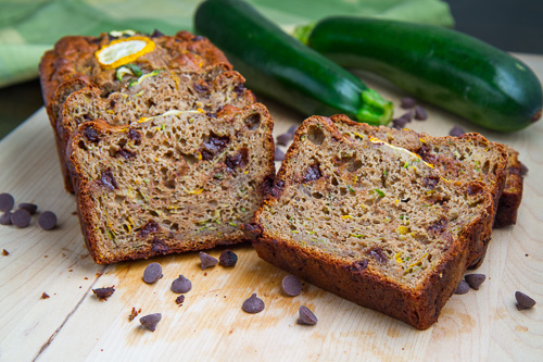 Chocolate Chip Zucchini Greek Yogurt Banana Bread