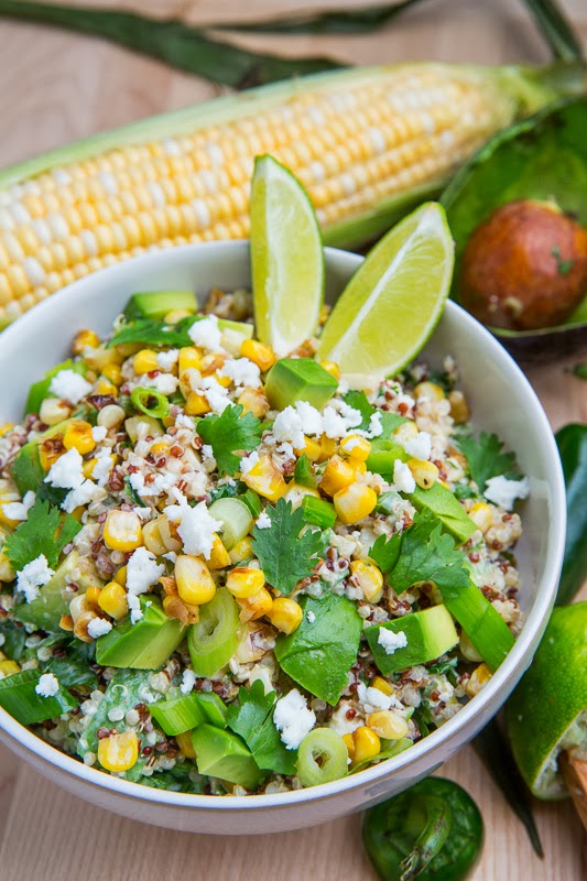 Esquites Quinoa Salad with Avocado