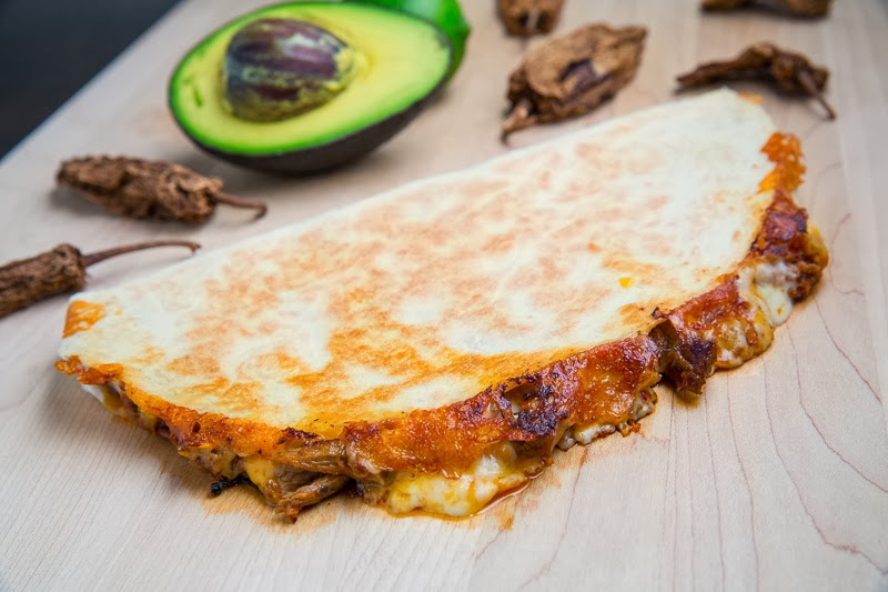 Pork Tinga Quesadillas