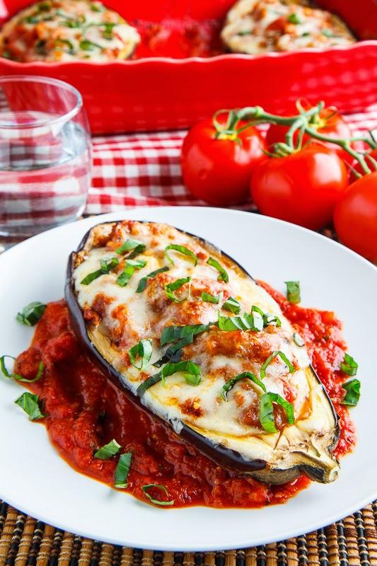 Eggplant Parmesan Boats