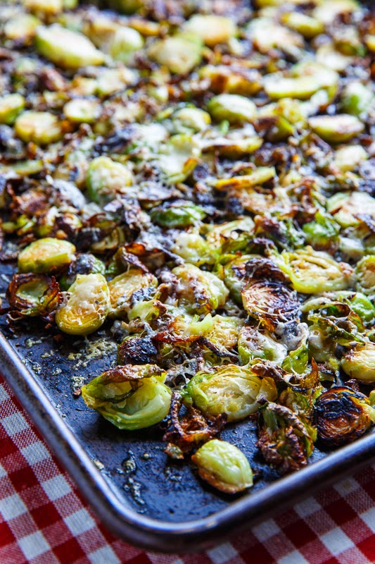 Parmesan Roasted Brussels Sprouts with Double Smoked Bacon