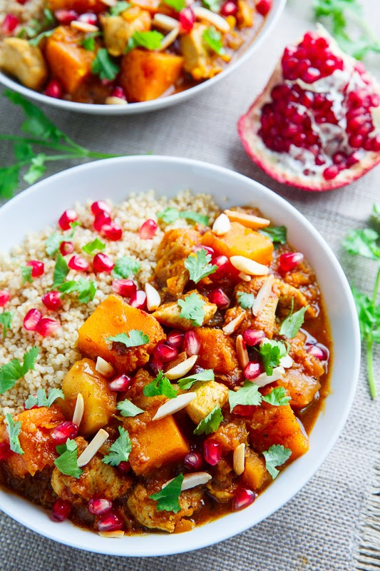 Pumpkin and Chicken Tagine