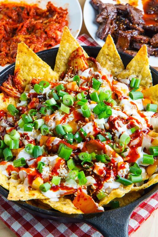 Korean Bulgogi and Kimchi Nachos