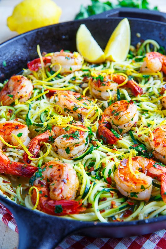 Shrimp Scampi with Zucchini Noodles