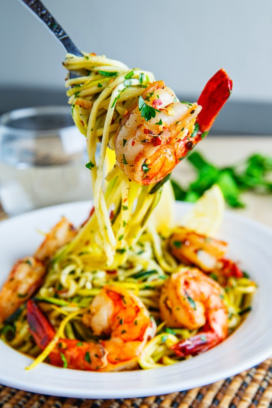 Shrimp Scampi With Zucchini Noodles Closet Cooking