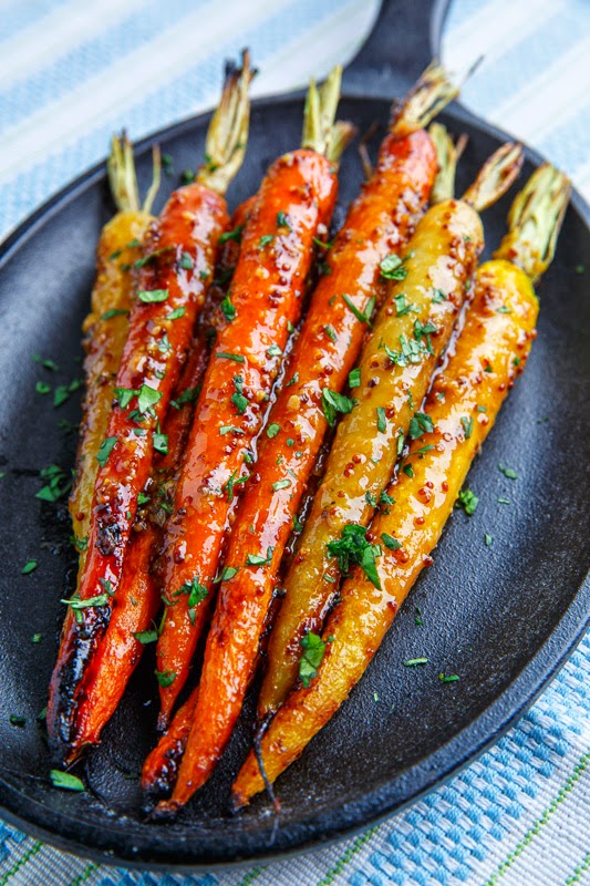 Maple Dijon Roasted Carrots | Thanksgiving Side Dishes | Homemade Recipes
