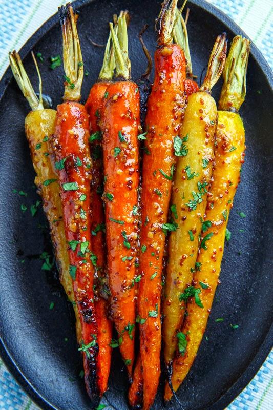 Maple Dijon Roasted Carrots as side for Christmas dinner.