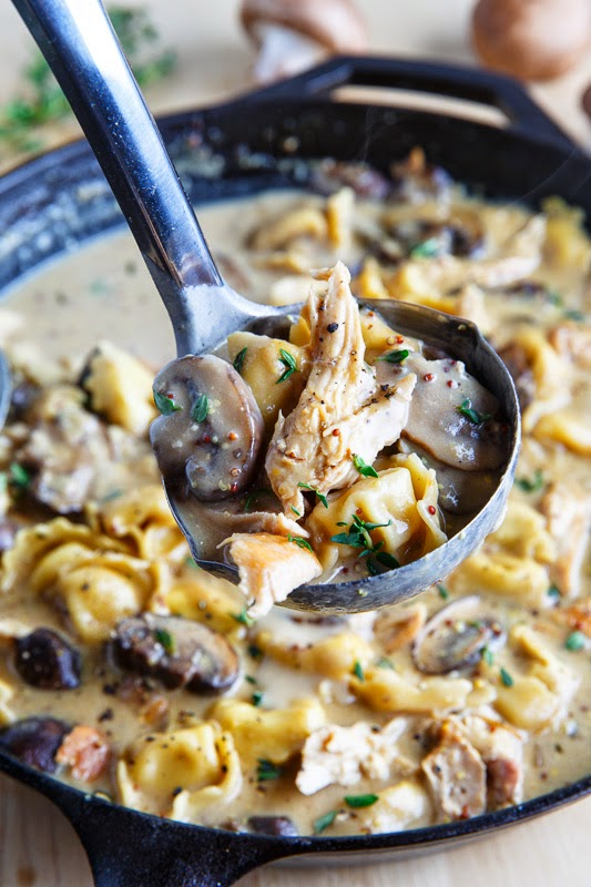 Creamy Asiago Chicken And Mushroom Tortellini Soup Closet Cooking