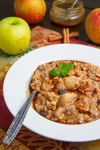 Slow Cooker Apple Pie Steel Cut Oatmeal