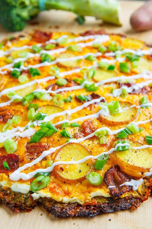 Loaded Baked Potato Broccoli Crust Pizza
