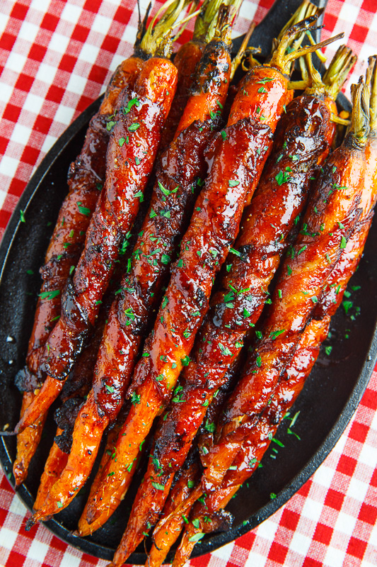 Maple Glazed Bacon Wrapped Roasted Carrots | 15 Winter Appetizer Recipes To Warm Your Heart