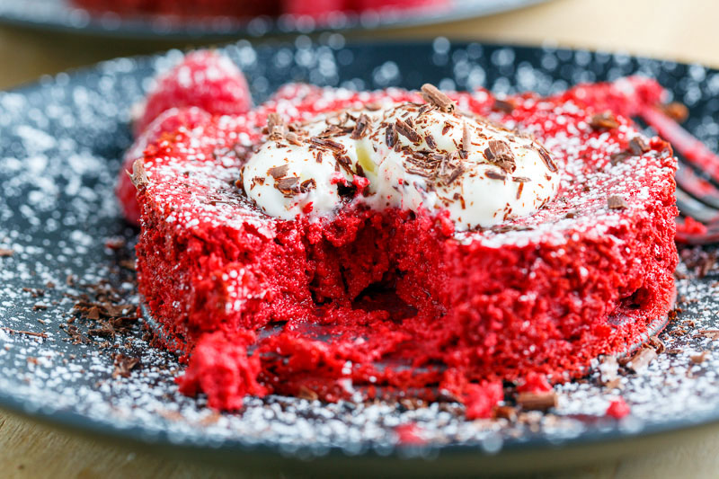 Chocolate Red Velvet Cheesecake for Two