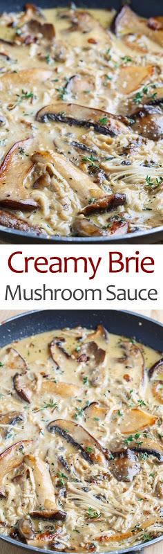 Creamy Brie Mushroom Sauce