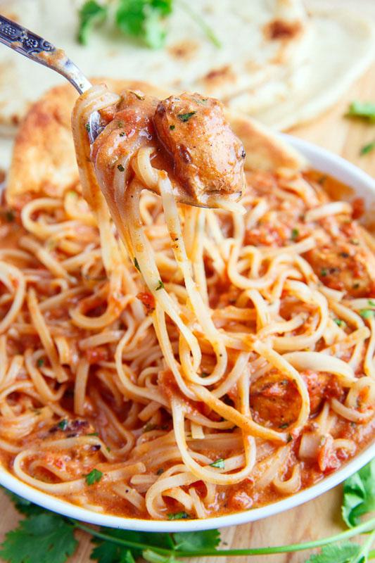 Butter Chicken Noodle Soup